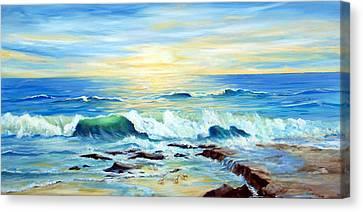 Rehoboth Beach Surf Canvas Print
