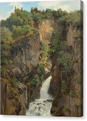 Reichenbach Falls Canvas Print by MotionAge Designs