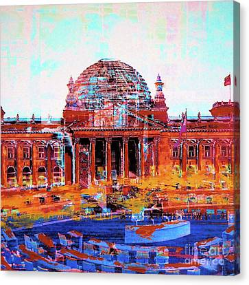 Reichstag And Parliament Canvas Print