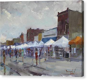 Reins Canvas Print - Rein And Sun At Canal Fest In North Tonawanda by Ylli Haruni