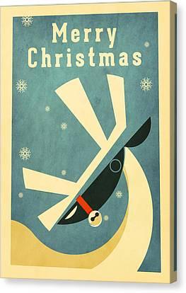 Reindeer 2 Canvas Print by Daviz Industries