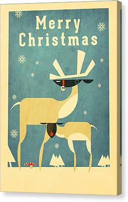 Reindeer Canvas Print by Daviz Industries