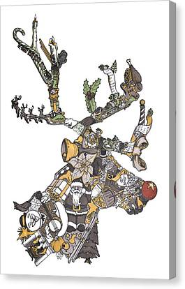 Reindeer Games Canvas Print by Tyler Auman