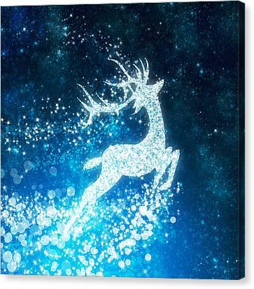 Reindeer Stars Canvas Print