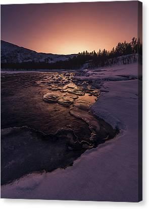 Reisadalen Sunrise Canvas Print by Tor-Ivar Naess