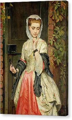 Rejection Canvas Print - Rejected Addresses by Charles Sillem Lidderdale