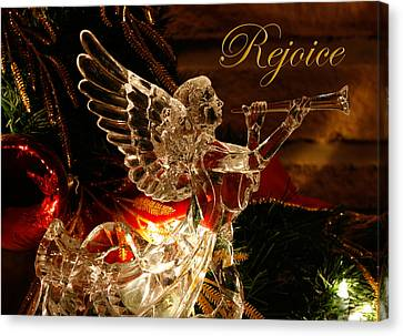 Rejoice Crystal Angel Canvas Print by Denise Beverly