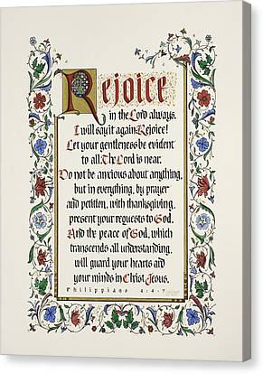 Music Inspired Art Canvas Print - Rejoice II by Judy Dodds