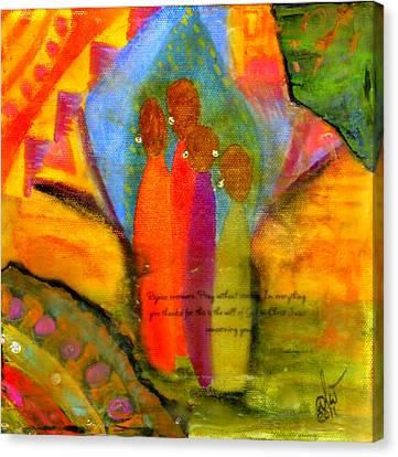 Rejoice Some More Canvas Print by Angela L Walker