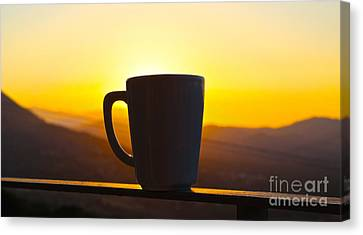 Relax At Sunset Canvas Print by David Warrington