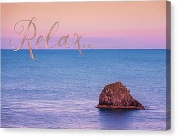 Caribbean Canvas Print - Relax, Inspiring, Peaceful Coastal Sentiment Art by Tina Lavoie