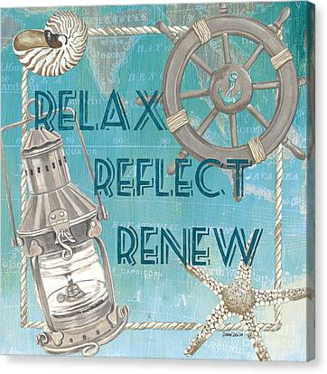 Relax Reflect Renew Canvas Print by Debbie DeWitt