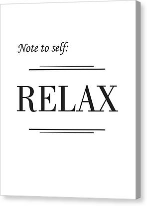 Relax Canvas Print - Relax by Studio Grafiikka