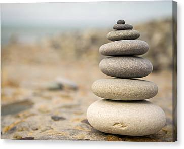 Canvas Print featuring the photograph Relaxation Stones by John Williams