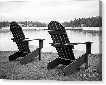 Parc Canvas Print - Relaxing At The Lake  by Edward Fielding