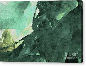 Canvas Print featuring the digital art Relaxing In The Green by Margie Chapman