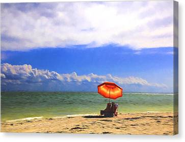 Relaxing On Sanibel Canvas Print