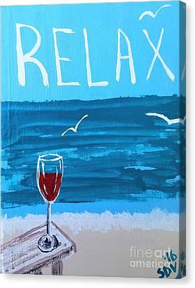 Shoreline Old Men Canvas Print - Relaxing Seascape  by Scott D Van Osdol