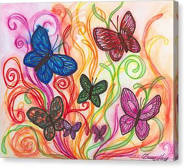 Releasing Butterflies I Canvas Print by Denise Hoag
