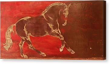 Equine Art Canvas Print - Releasing Energy by Gabrielle England