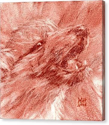 Seedling Wolf 0009 Canvas Print by David Herman