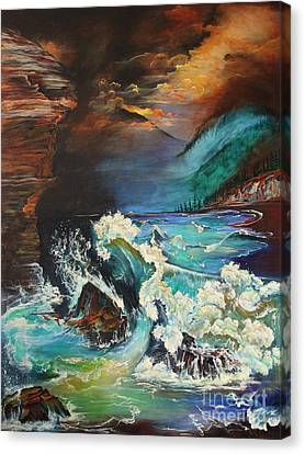 Relentless Wave Canvas Print by Farzali Babekhan