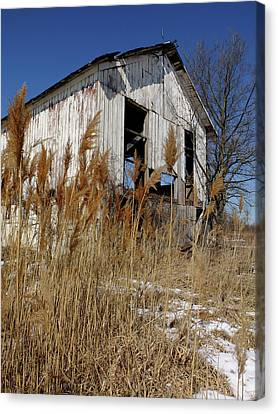 Canvas Print featuring the photograph Relic Near Town by Scott Kingery