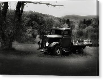 Canvas Print featuring the photograph Relic Truck by Bill Wakeley