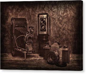 Canvas Print featuring the photograph Relics by Mark Fuller