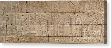 Hathor Canvas Print - Relief From The Temple Of Dendur by Egyptian School