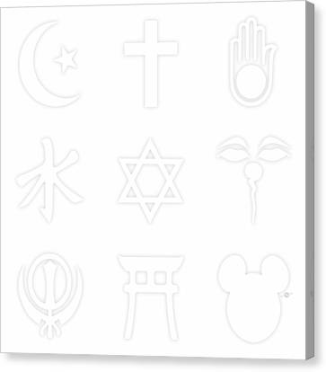 Religions? Take A Closer Look 1 Canvas Print by Tony Rubino