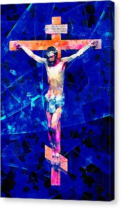 Religious Art Crucifix Canvas Print by Elena Kosvincheva