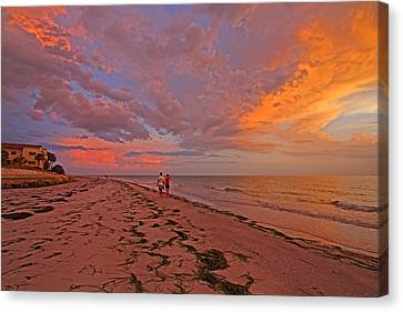Remains Of The Day Canvas Print by HH Photography of Florida