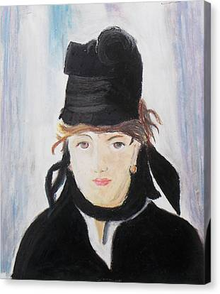 Remake Portrait Of Berthe Morisot Canvas Print by Keshava Shukla