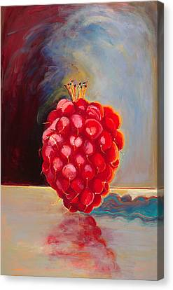 Remarkable Raspberry Canvas Print by Diane Woods