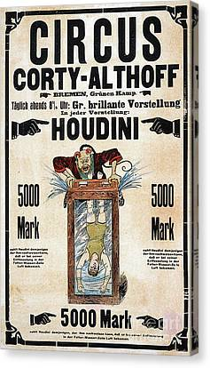 Canvas Print featuring the photograph Remastered Nostagic Vintage Poster Art Houdini Water Filled Torture 20170416 by Wingsdomain Art and Photography