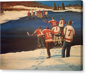 Rematch 2010 - The Bullies Are Back Canvas Print by Ron  Genest