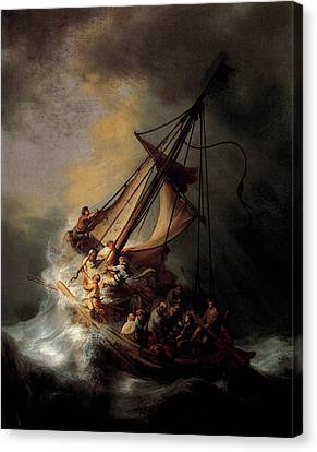 Rembrandt Christ In The Storm On The Sea Of Galilee Canvas Print
