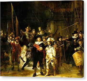 Rembrandt Nightwatch Canvas Print