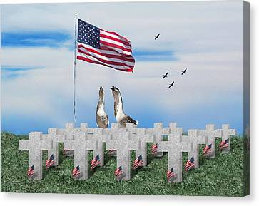 Remember The Fallen Canvas Print by Gravityx9  Designs