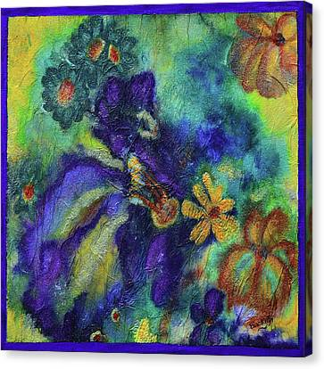 Remember The Flowers Canvas Print by Donna Blackhall