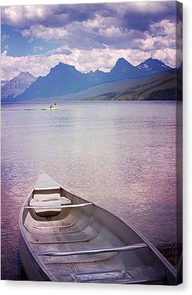 Remembering Lake Mcdonald Canvas Print by Heidi Hermes