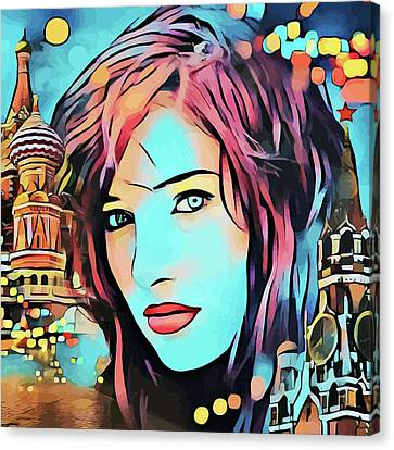 Remembering Moscow Russia Abstract Travel Vacation Art Canvas Print