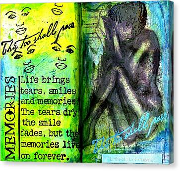 Remembering My Son -  Art Journal Entry Canvas Print by Angela L Walker