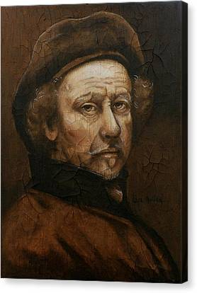 Canvas Print featuring the painting Remembering Rembrandt by Al  Molina