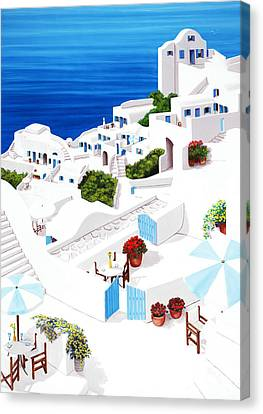 Remembering Santorini Canvas Print by Mary Grden's Baywood Gallery