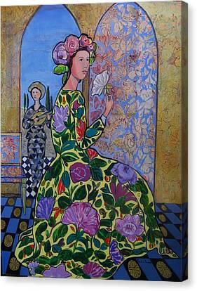 Remembering The Flower Door Canvas Print by Marilene Sawaf