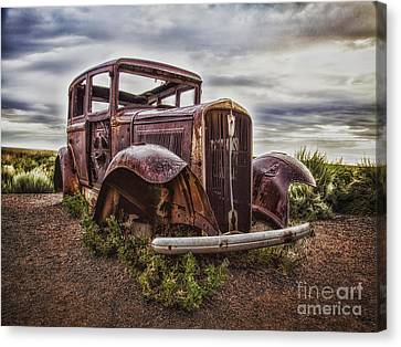 Remembering U.s. Route 66  ... Canvas Print by Chuck Caramella