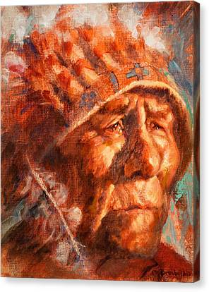 First Americans Canvas Print - Remembrance Of Things Past by Ellen Dreibelbis