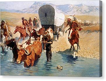 Remington: The Emigrants Canvas Print by Granger